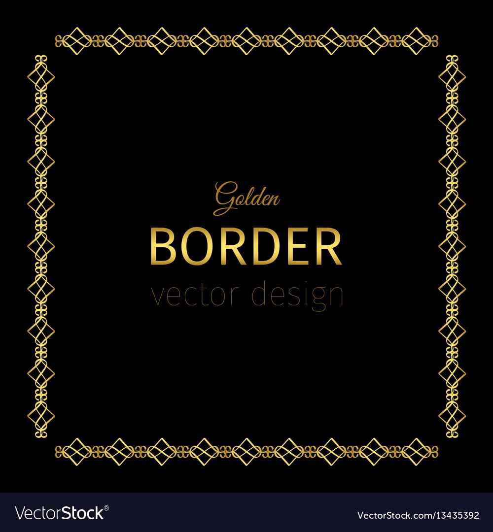 Golden square border