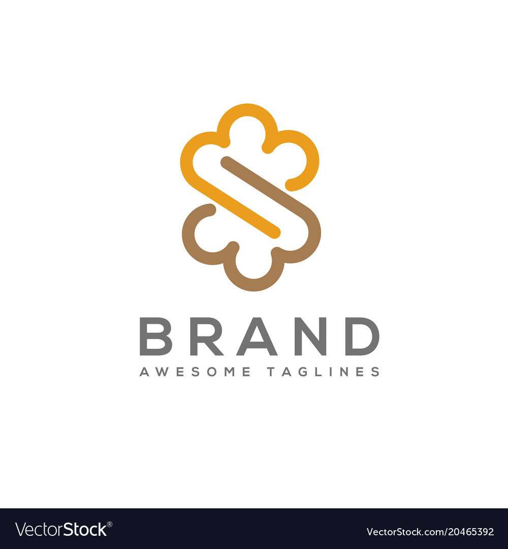 Infinity cloud letter s logo