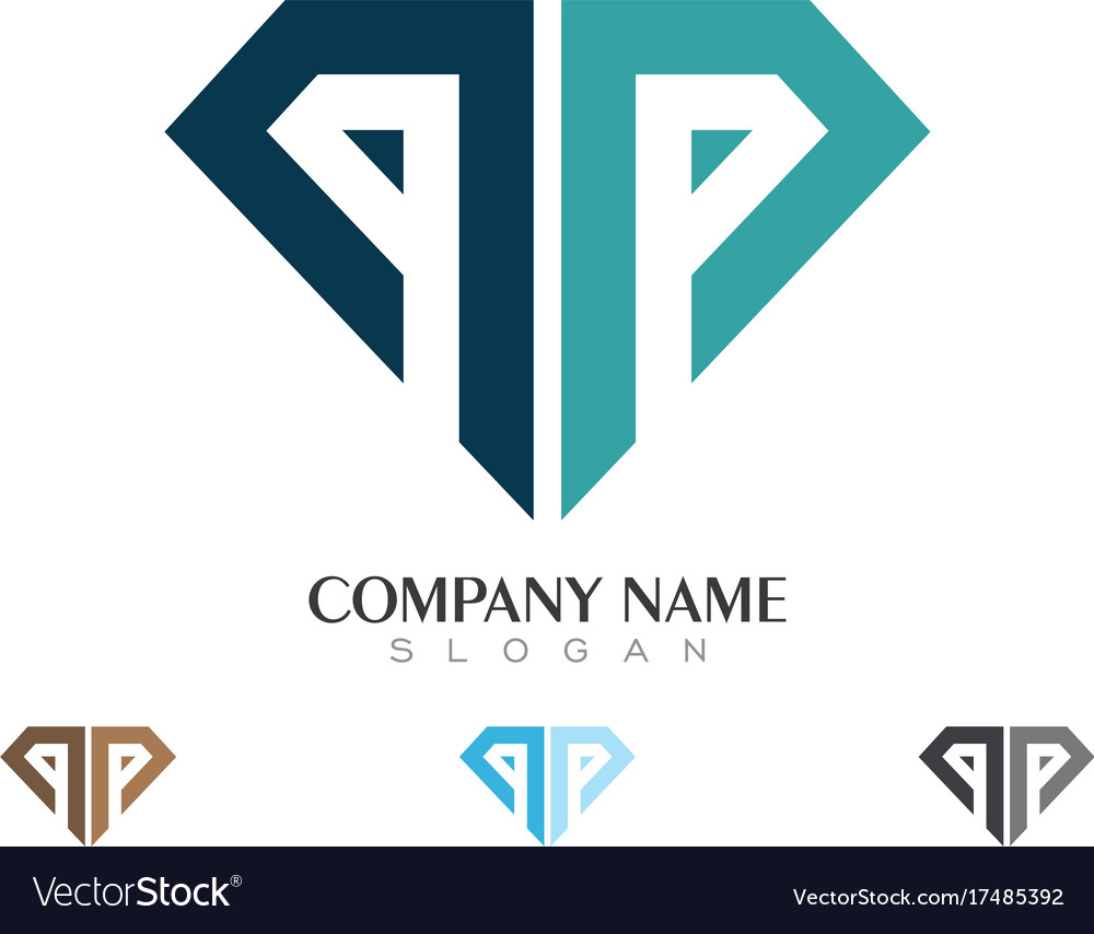 template diamond vector image logo free royalty