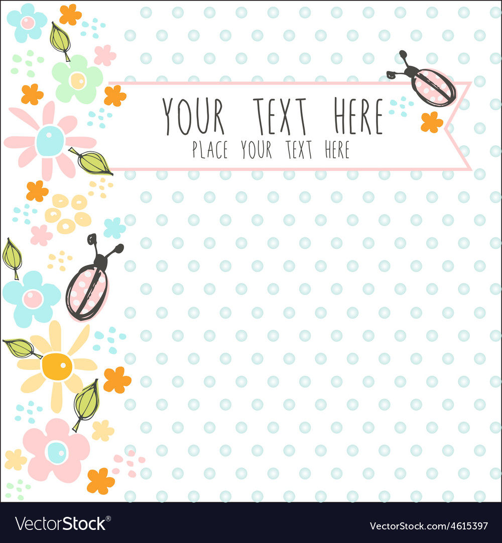 Card with blue dots