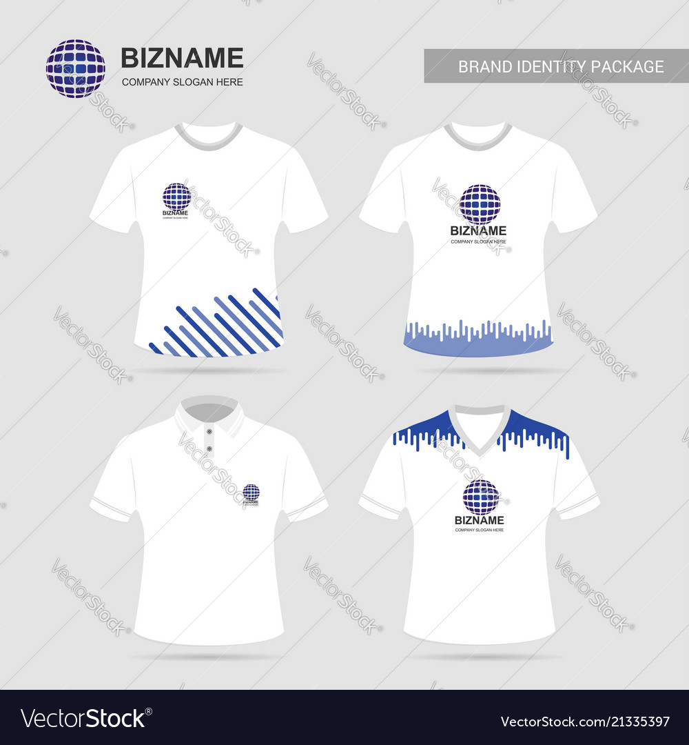 Company T Shirt Design With Logo And Typography Vector Image