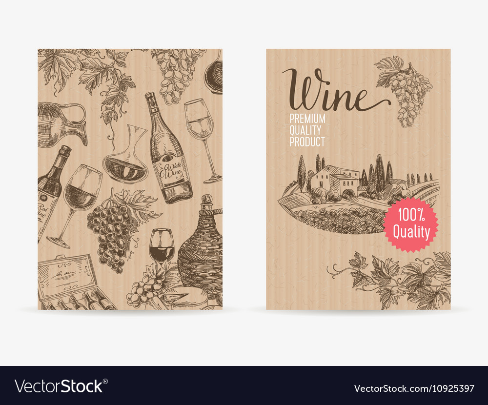 Hand drawn wine