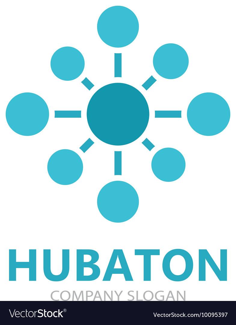 Hub connection logo design