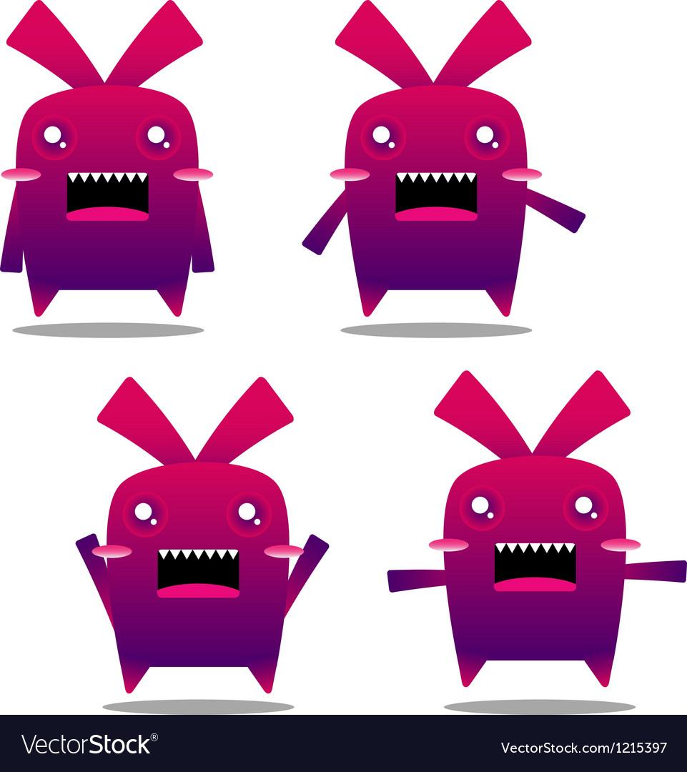 Mad rabbit vector image
