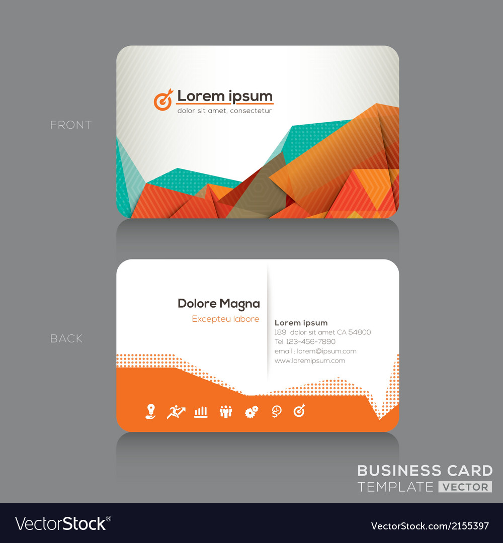 Modern abstract business cards design template vector image flashek Images