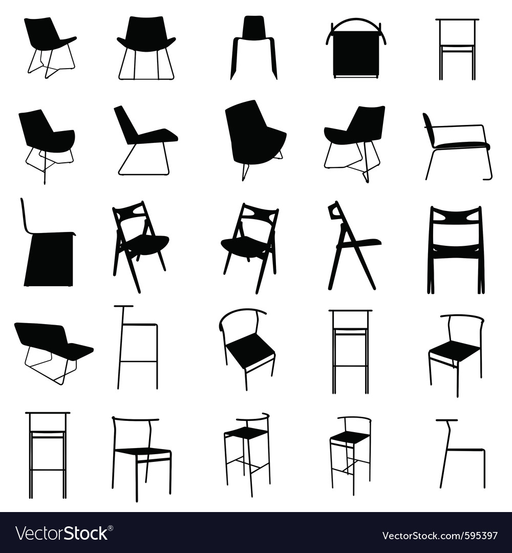 modern furniture silhouette royalty free vector image rh vectorstock com furniture victoria texas furniture victoria texas