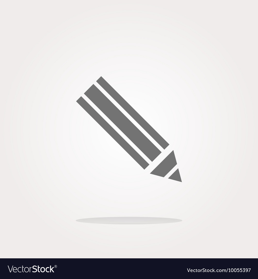 Pencil on web icon web button isolated on white