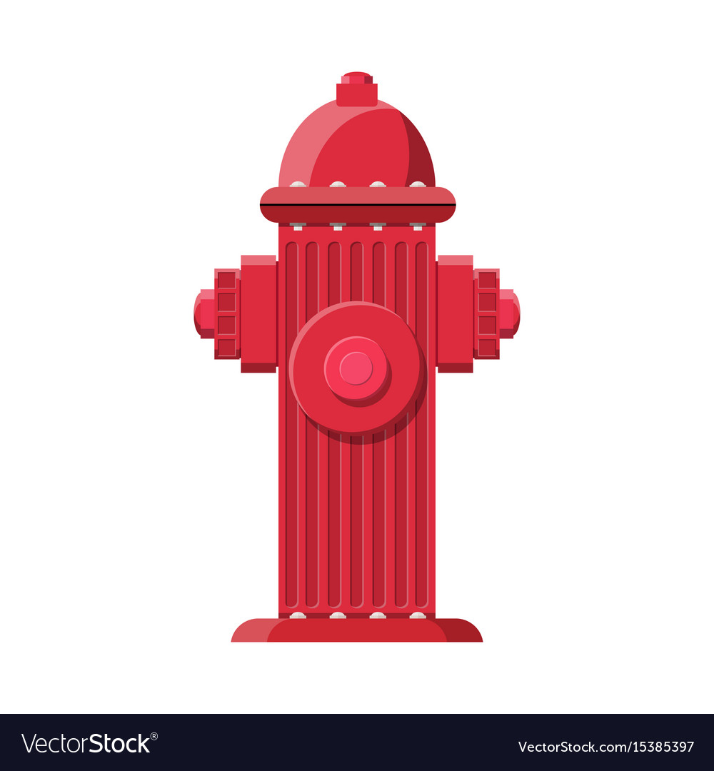 Red fire hydrant fire equipment