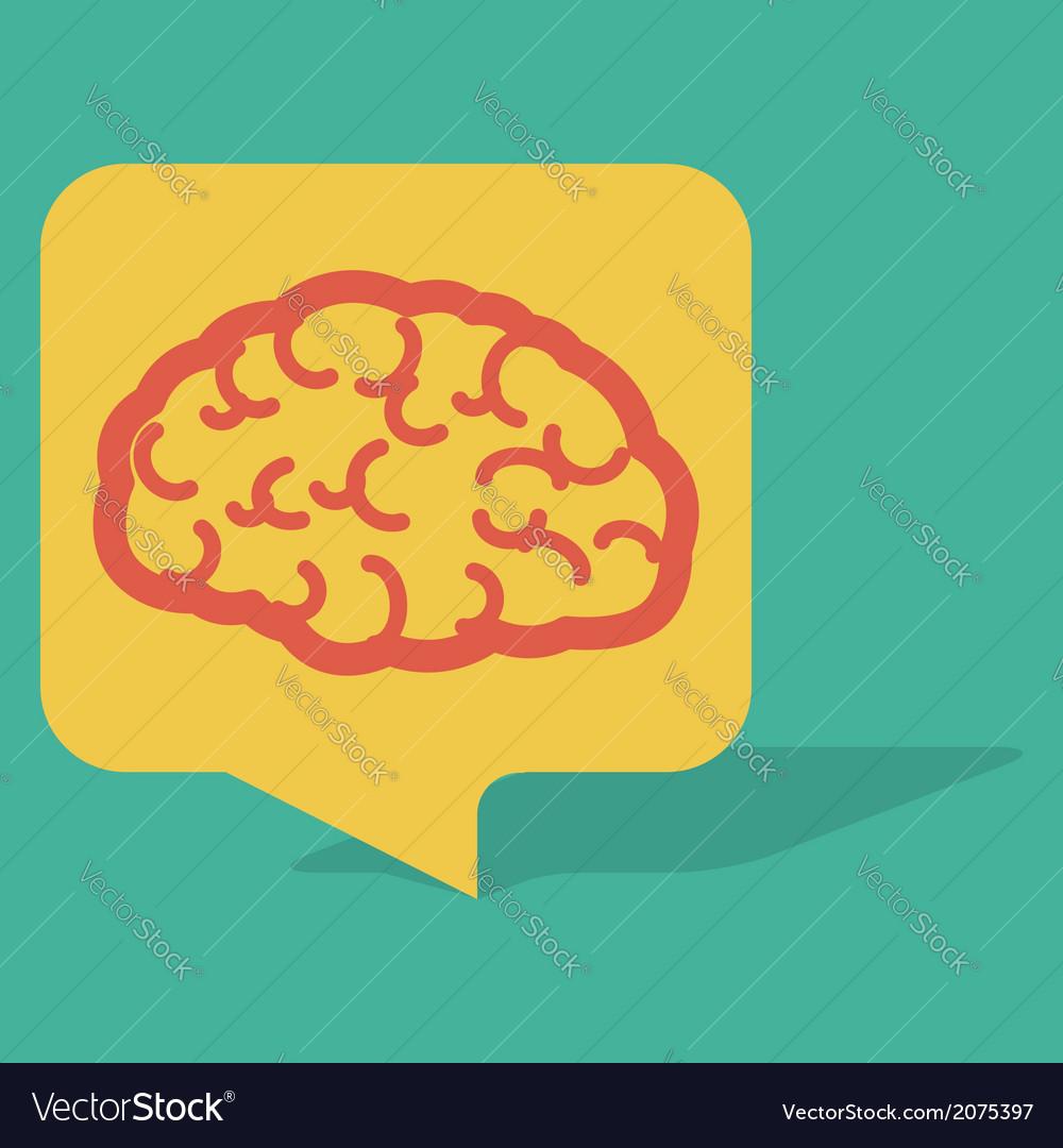 Talk Bubble Brain vector image