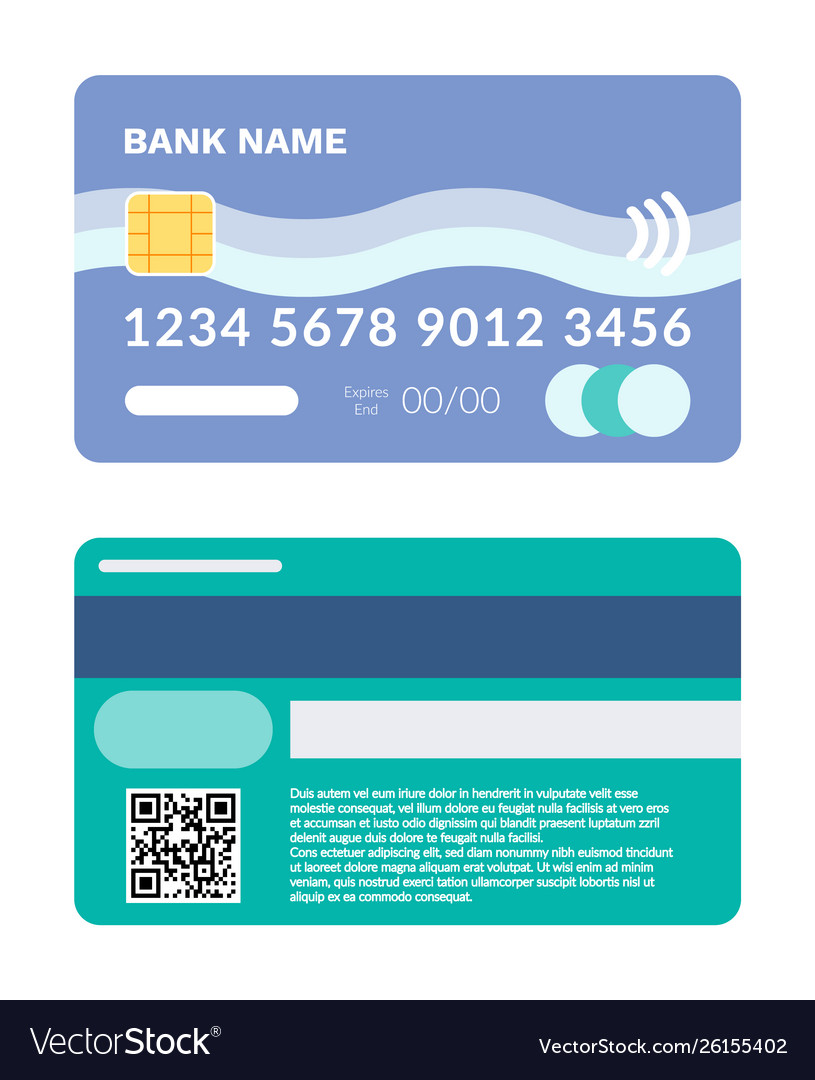 Credit card with number and code plastic item