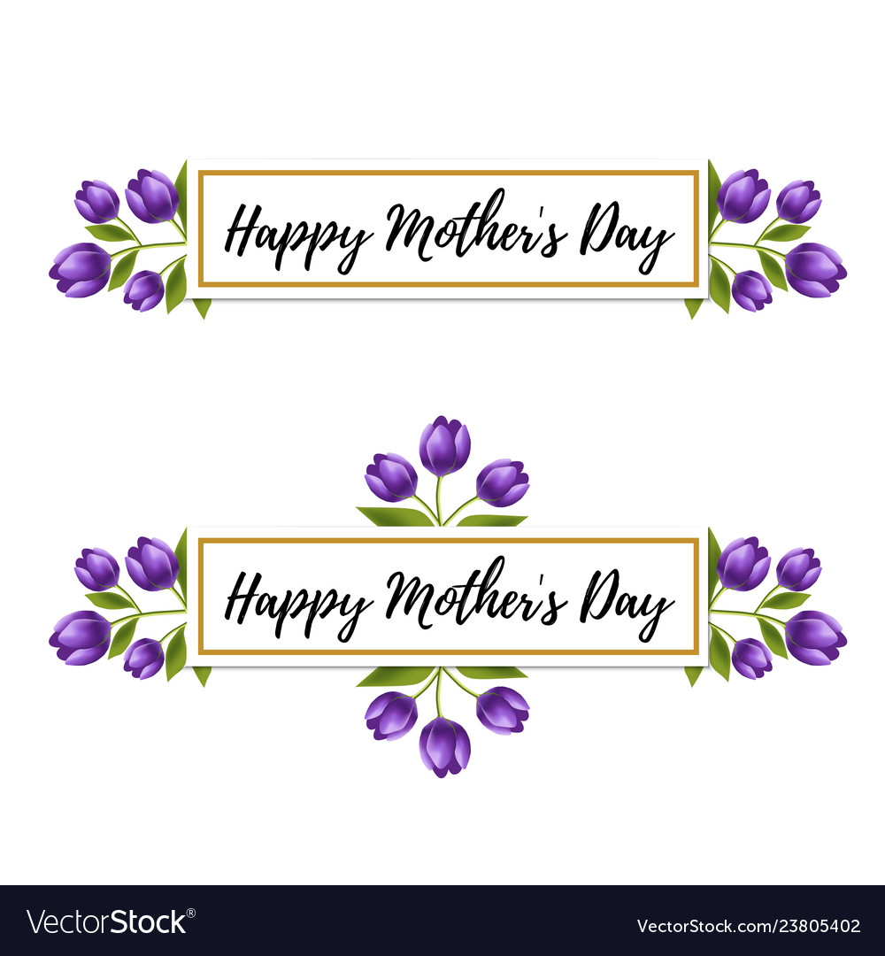 Floral design happy mothers day tulip flower card
