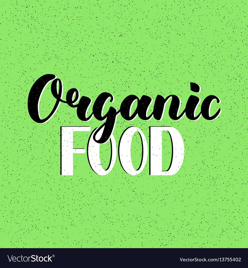Food design lettering for