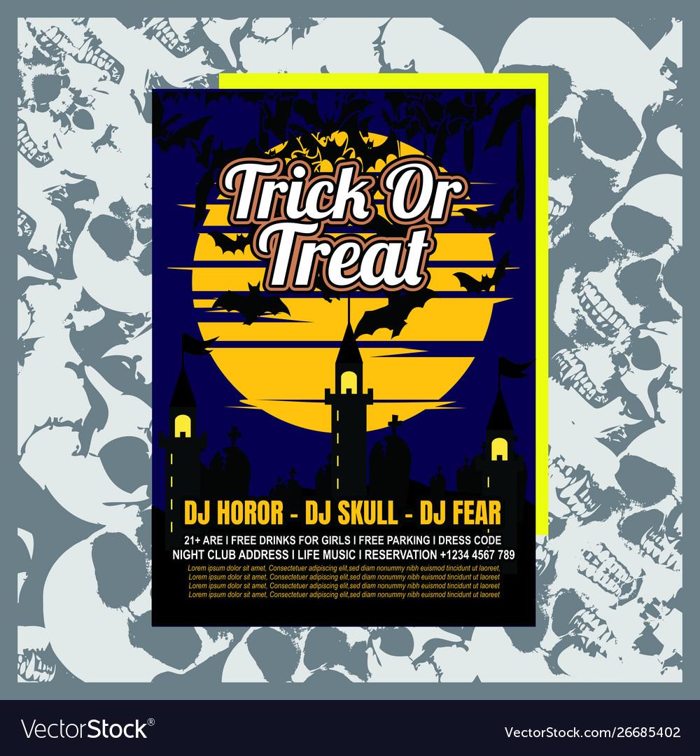Halloween party invitation flyer editable