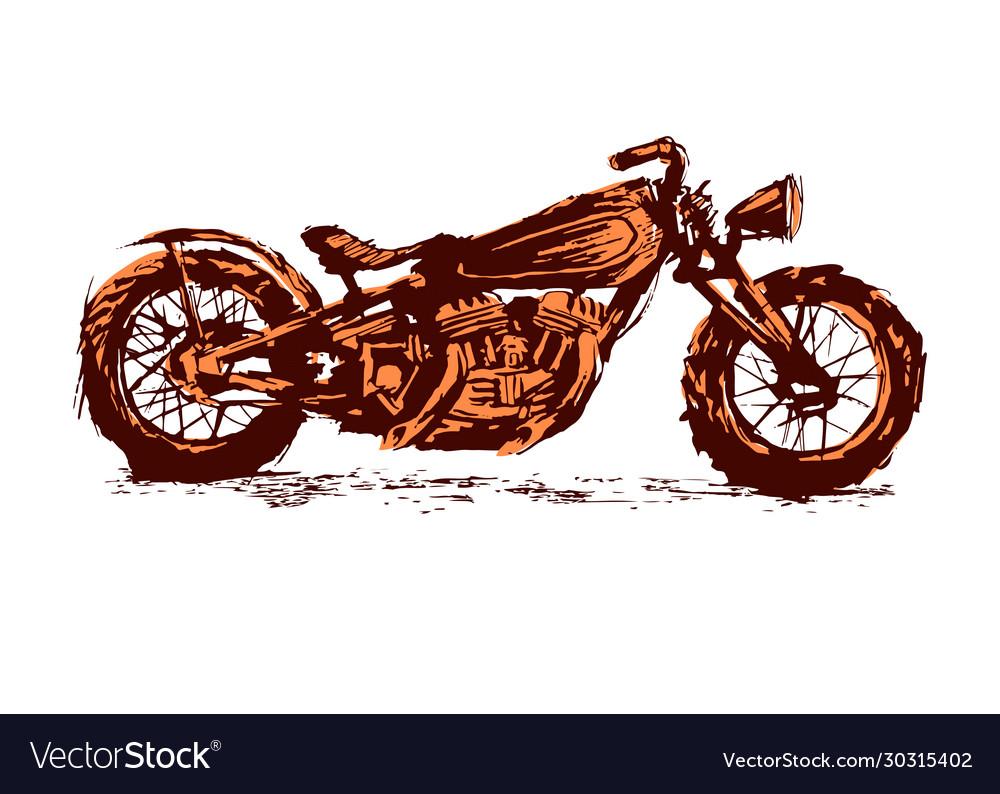 Motorcycle emblem biker club vintage style