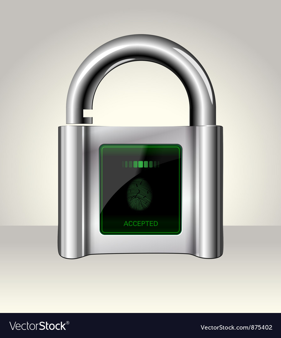 Opened padlock with touch Screen vector image