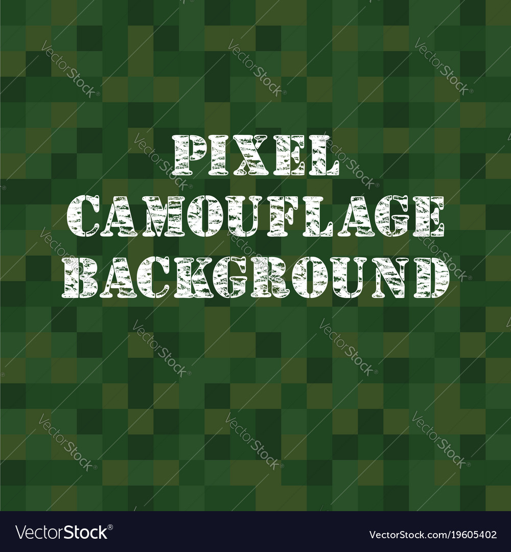 Pixel camouflage background