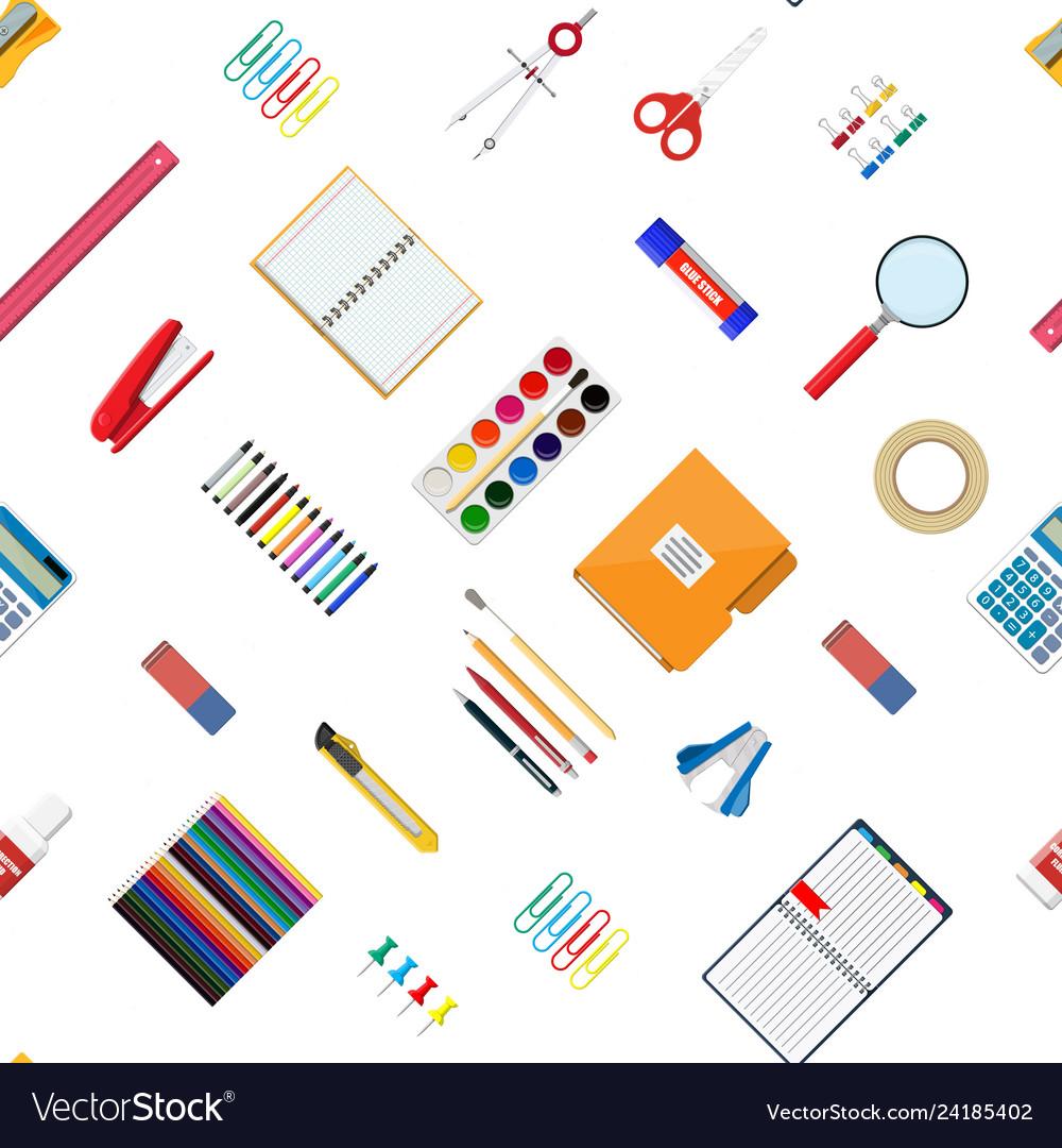 Seamless pattern stationery set