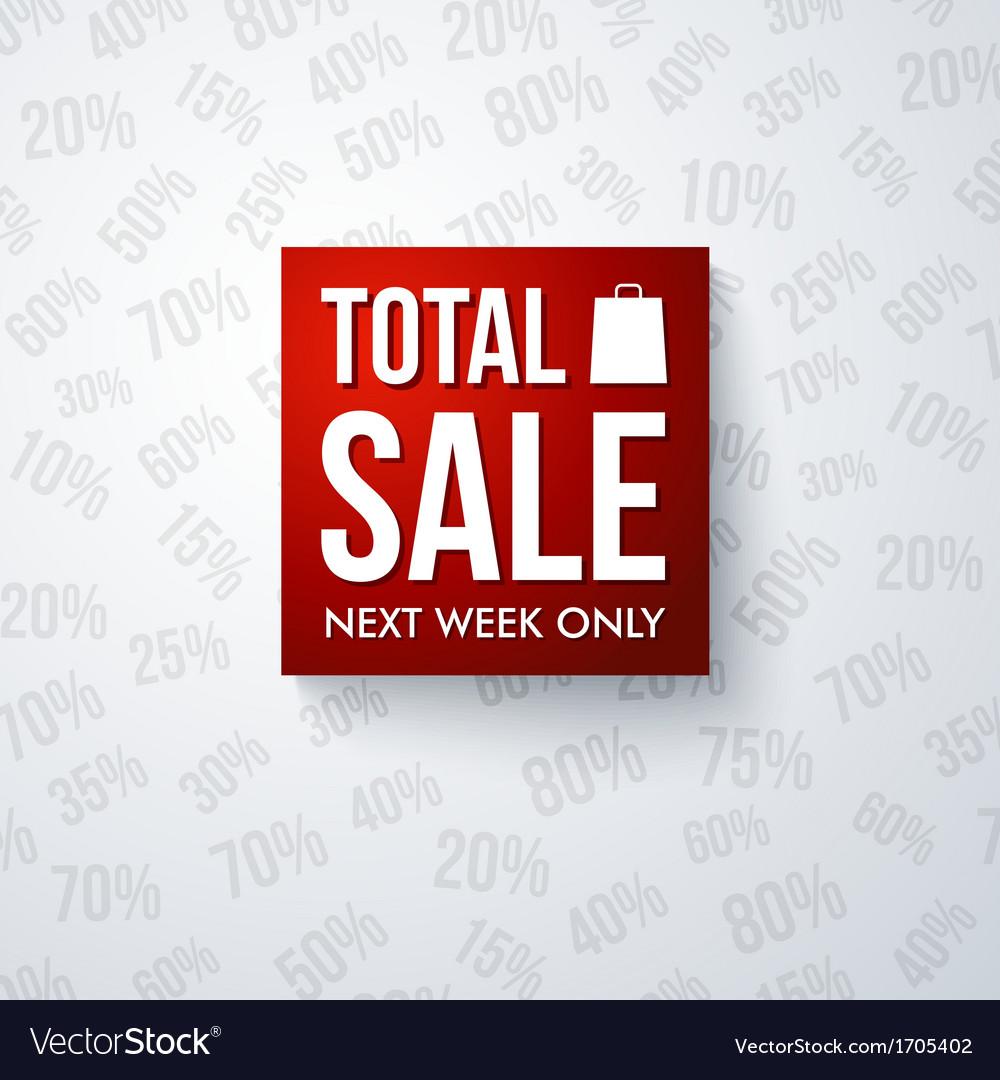 Total sale design template