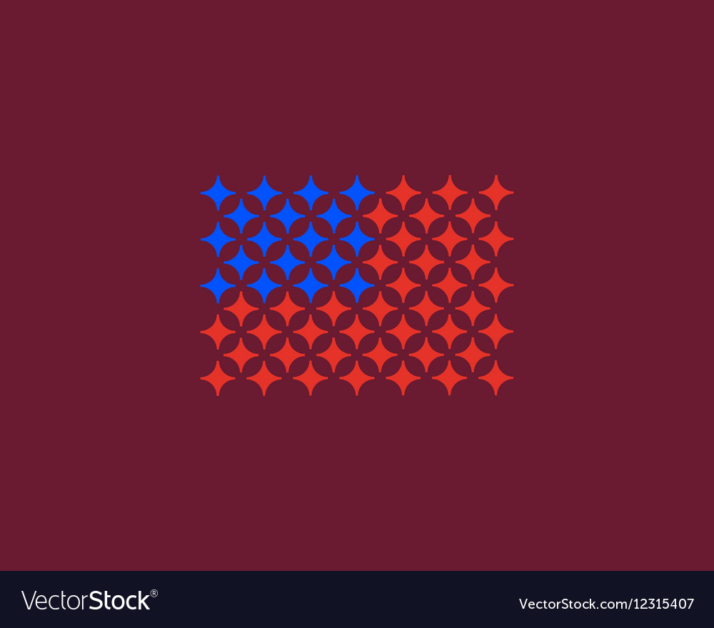 American flag made of stars USA patriot