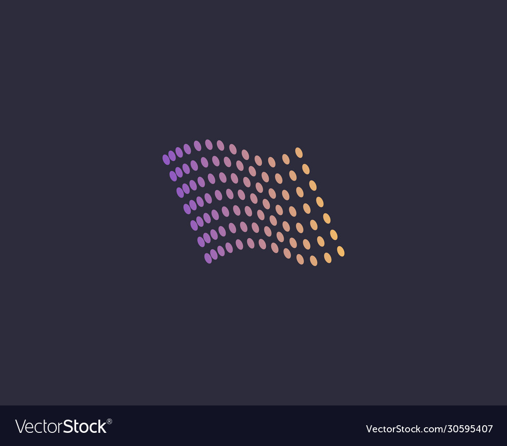 Flag colorful dots logo design abstract modern