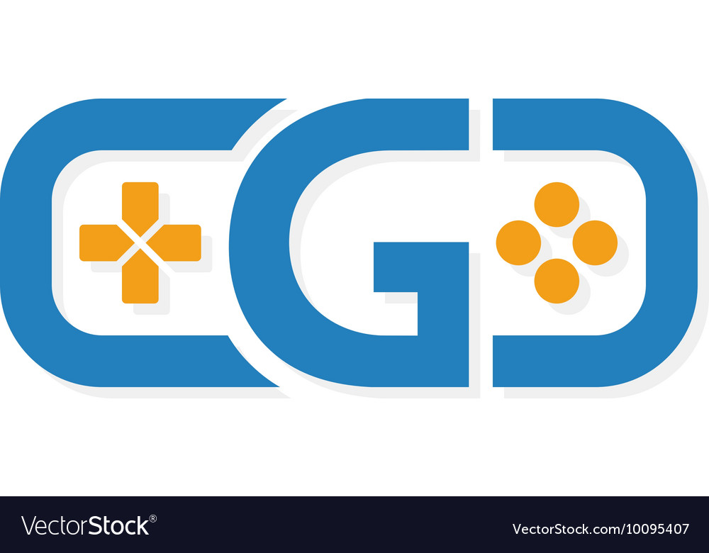 game controller logo template royalty free vector image