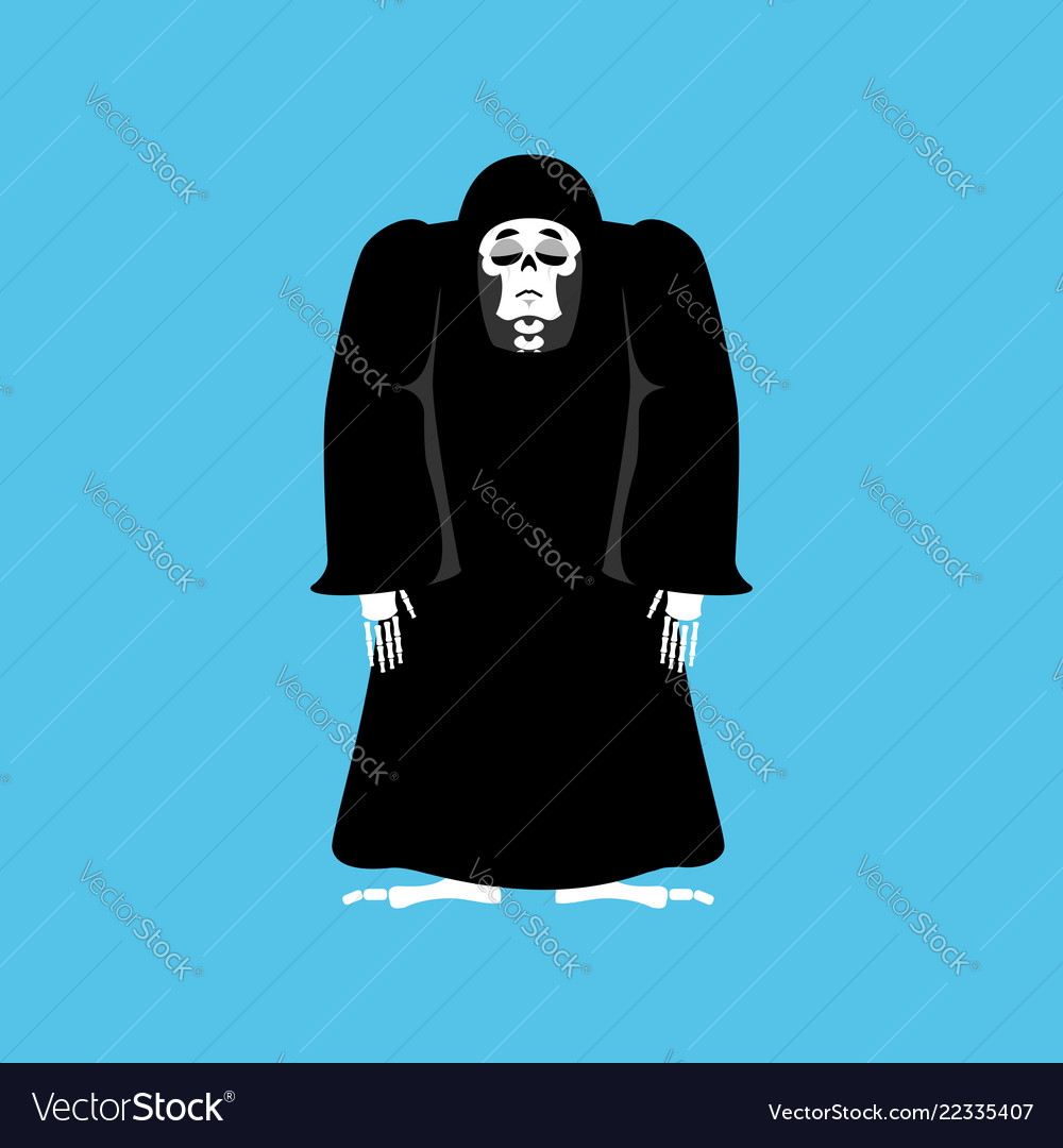 Grim reaper sad death depression skeleton in