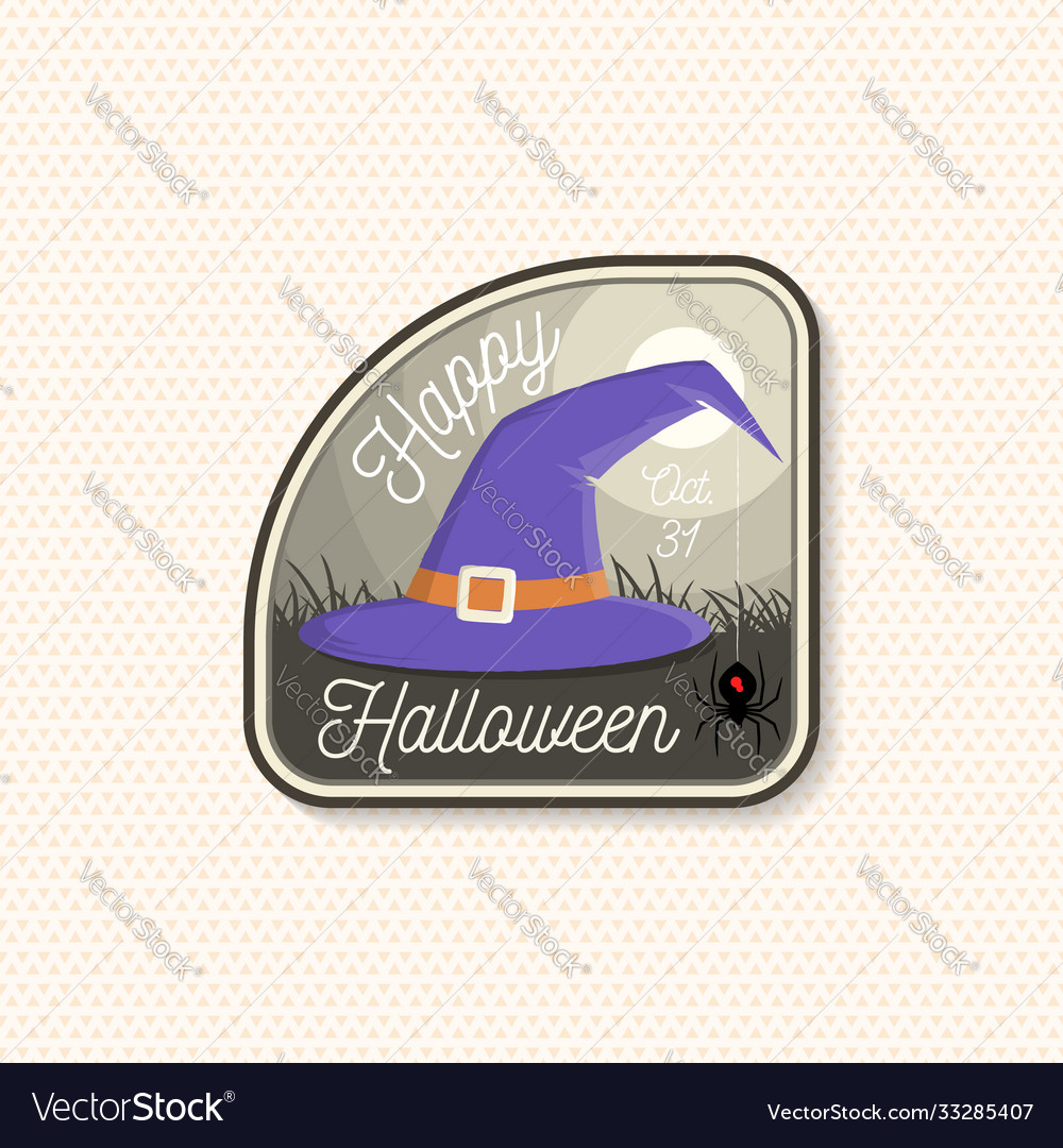 Happy halloween patch halloween retro badge pin