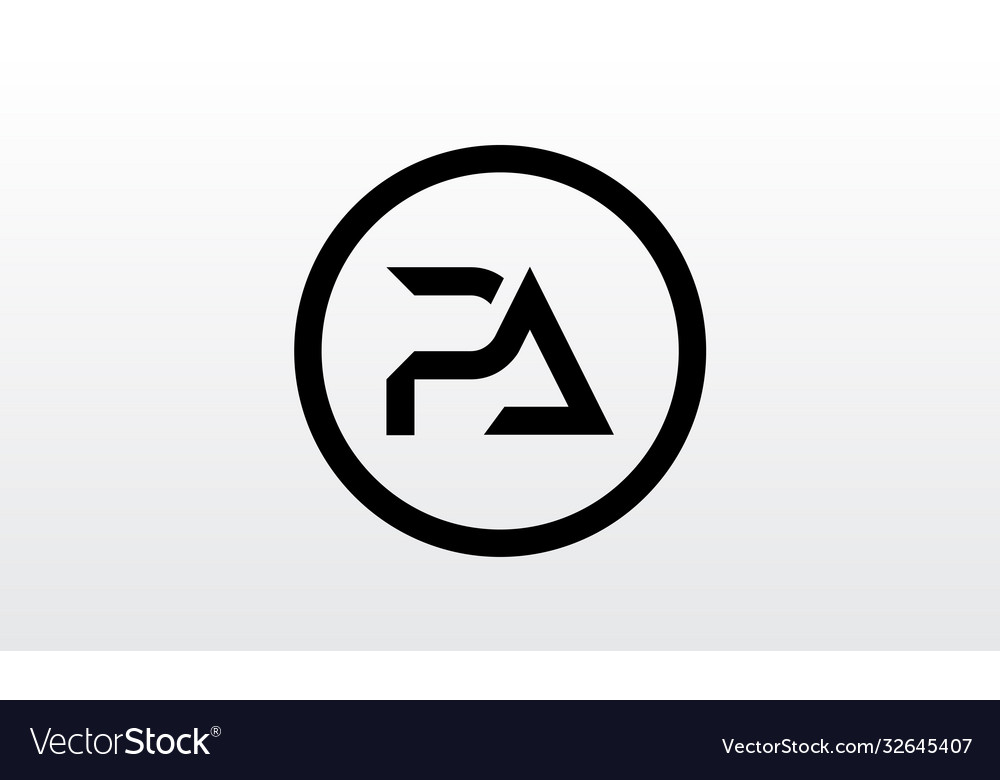 Initial pa letter logo with creative modern