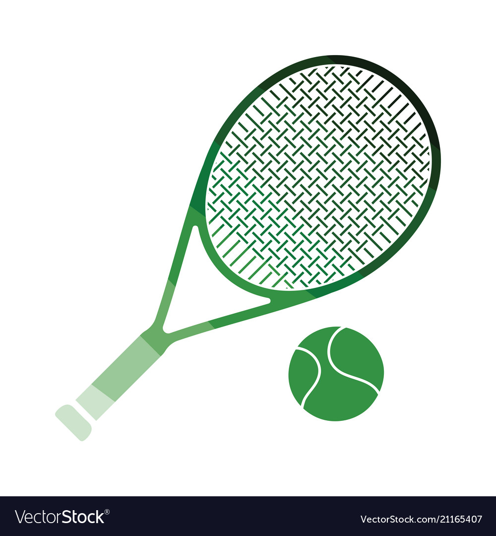 Tennis rocket and ball icon