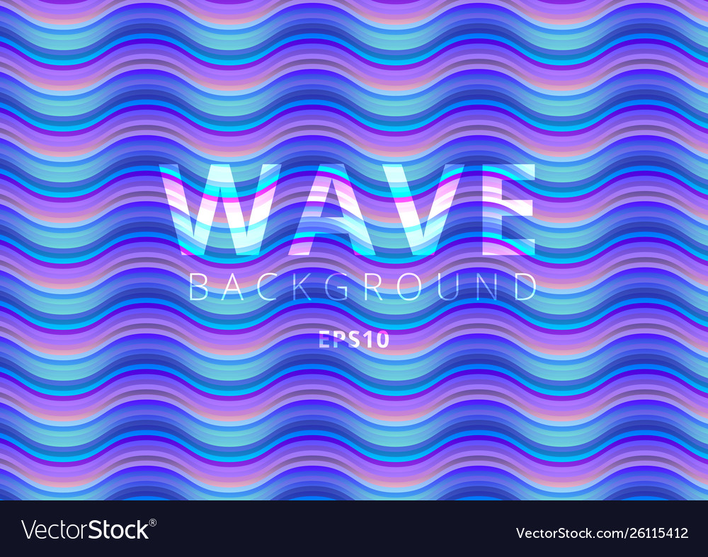 Abstract pattern wave bright color background