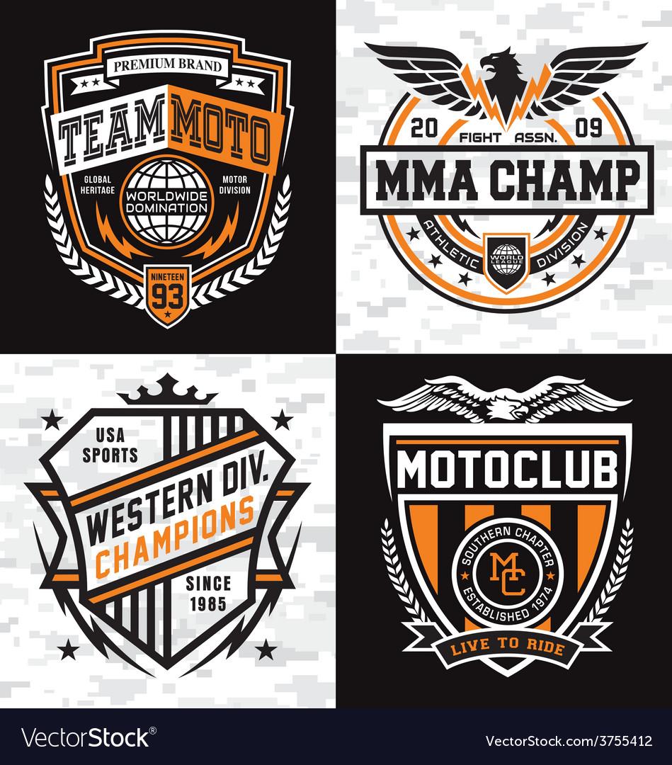Athletic emblem graphics vector image