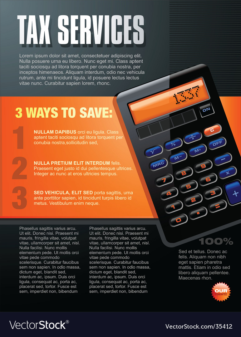 Calculator brochure design vector image