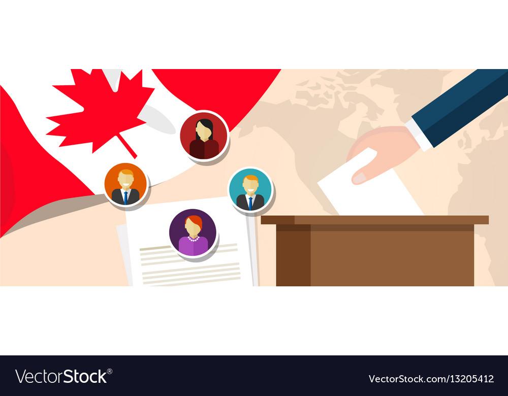 Canada democracy political process selecting