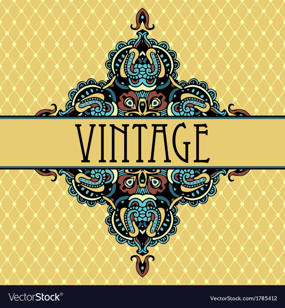Elegance luxuuy vintage vignette design