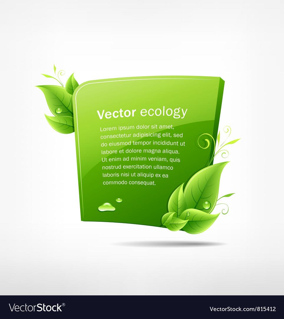 Frame green leaf ecology vector image