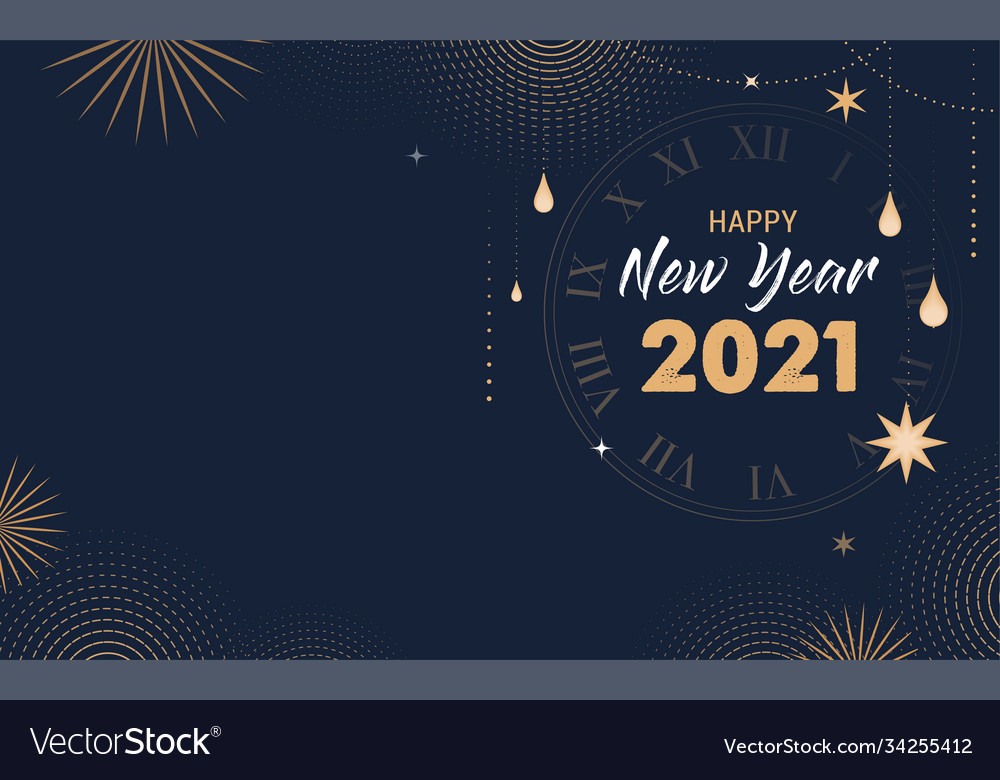 Happy new 2021 year - elegant abstract background