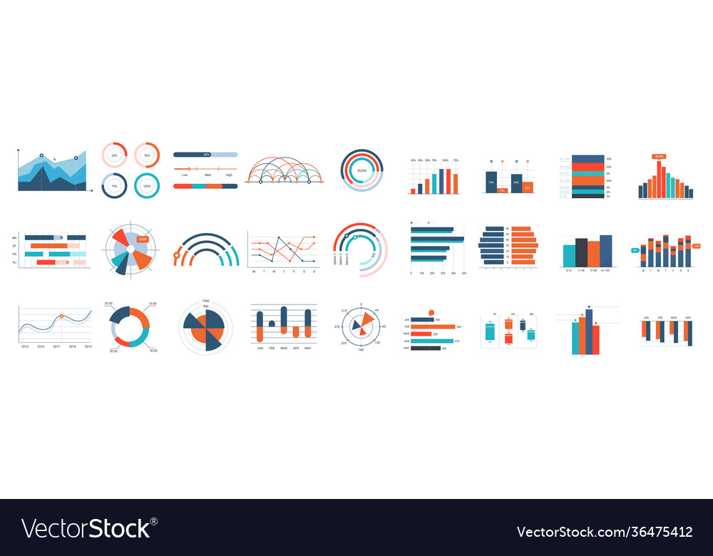 Infographics charts business diagrams graphs and