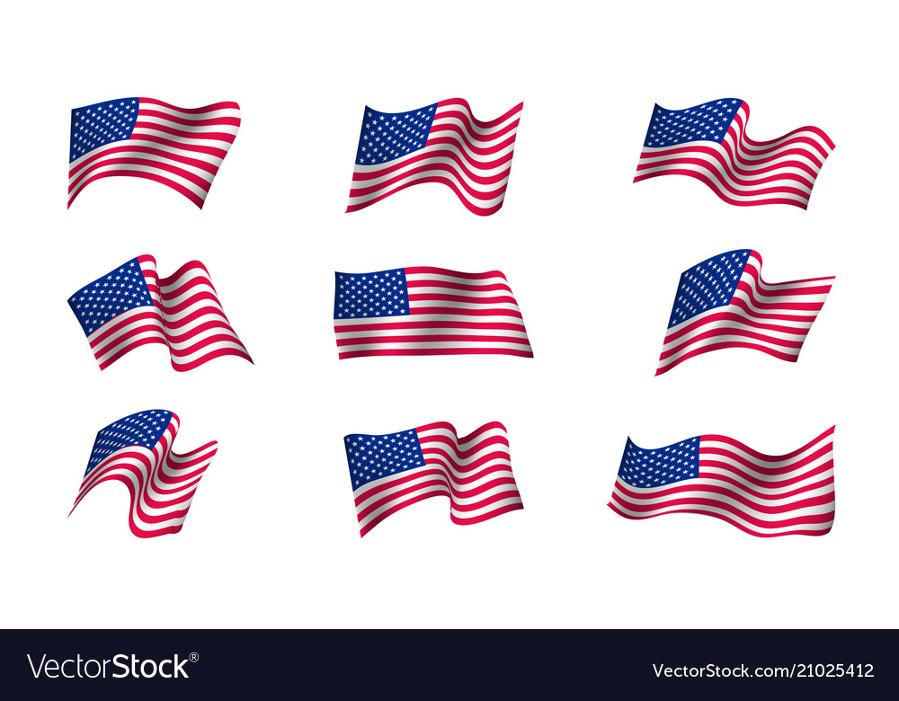 Set of us flags