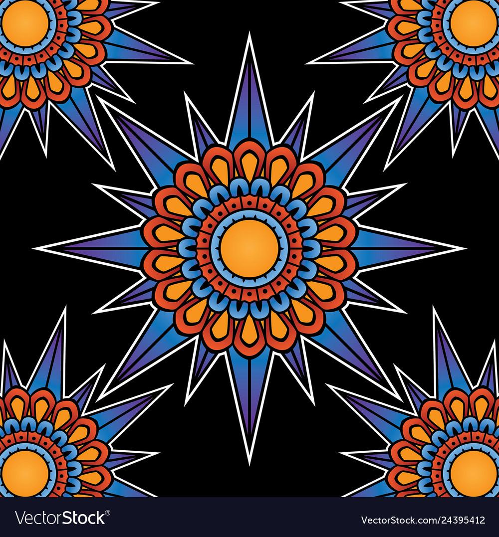 Tattoo pattern compass design