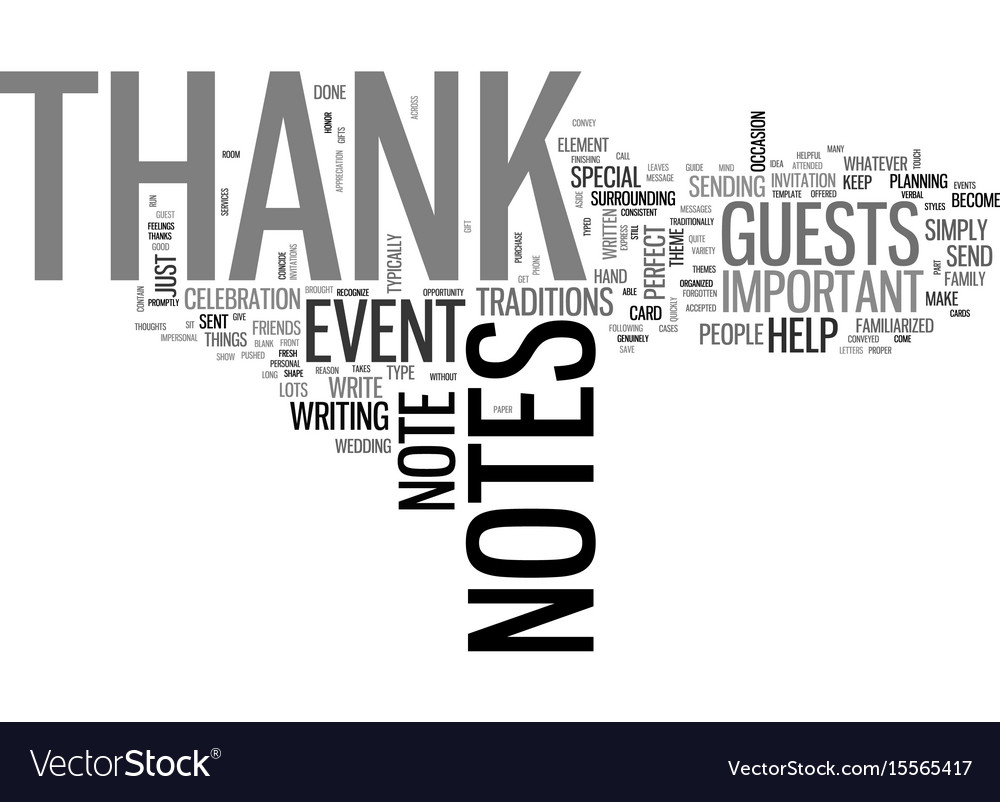 A guide to thank you notes text word cloud concept