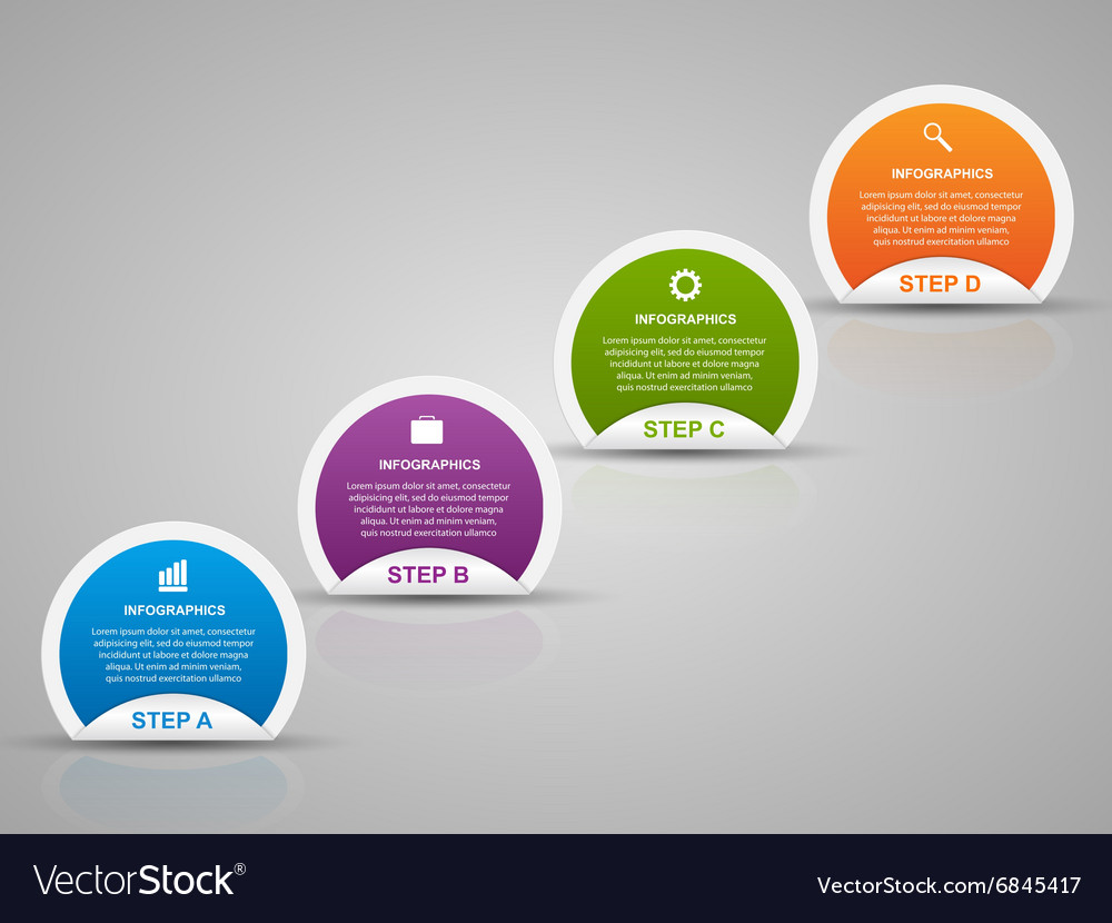 Abstract 3D business options infographics template