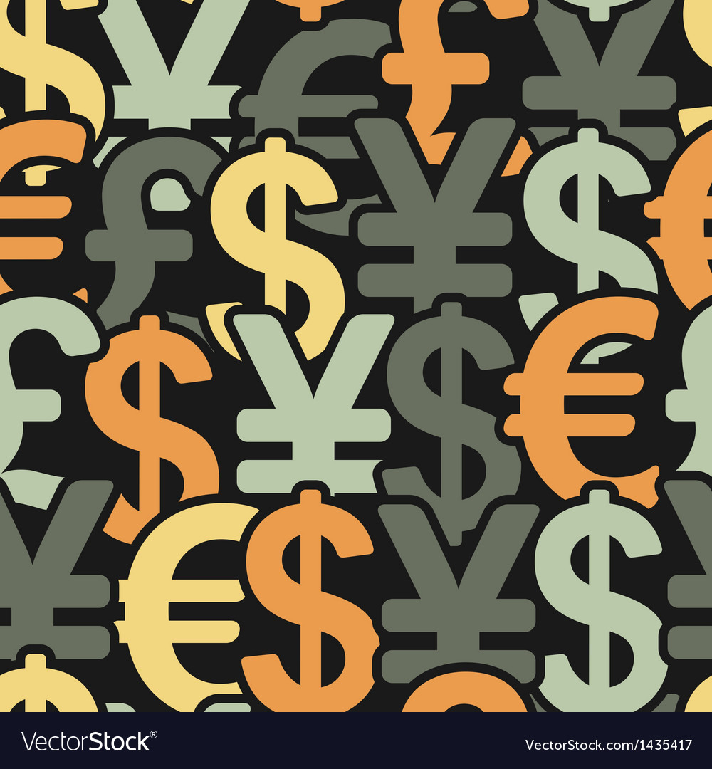 Abstract seamless pattern with money