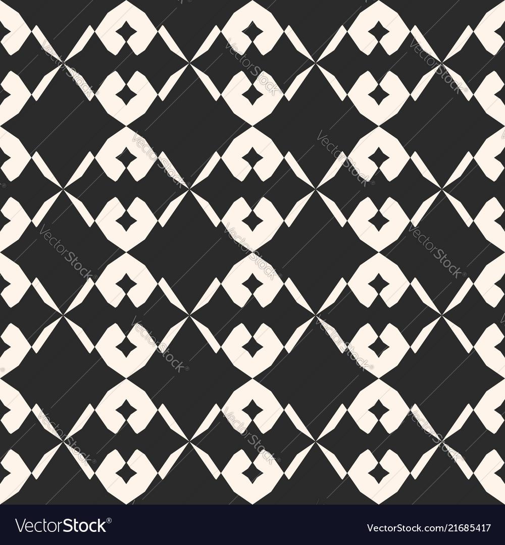 Black and white geometric seamless pattern