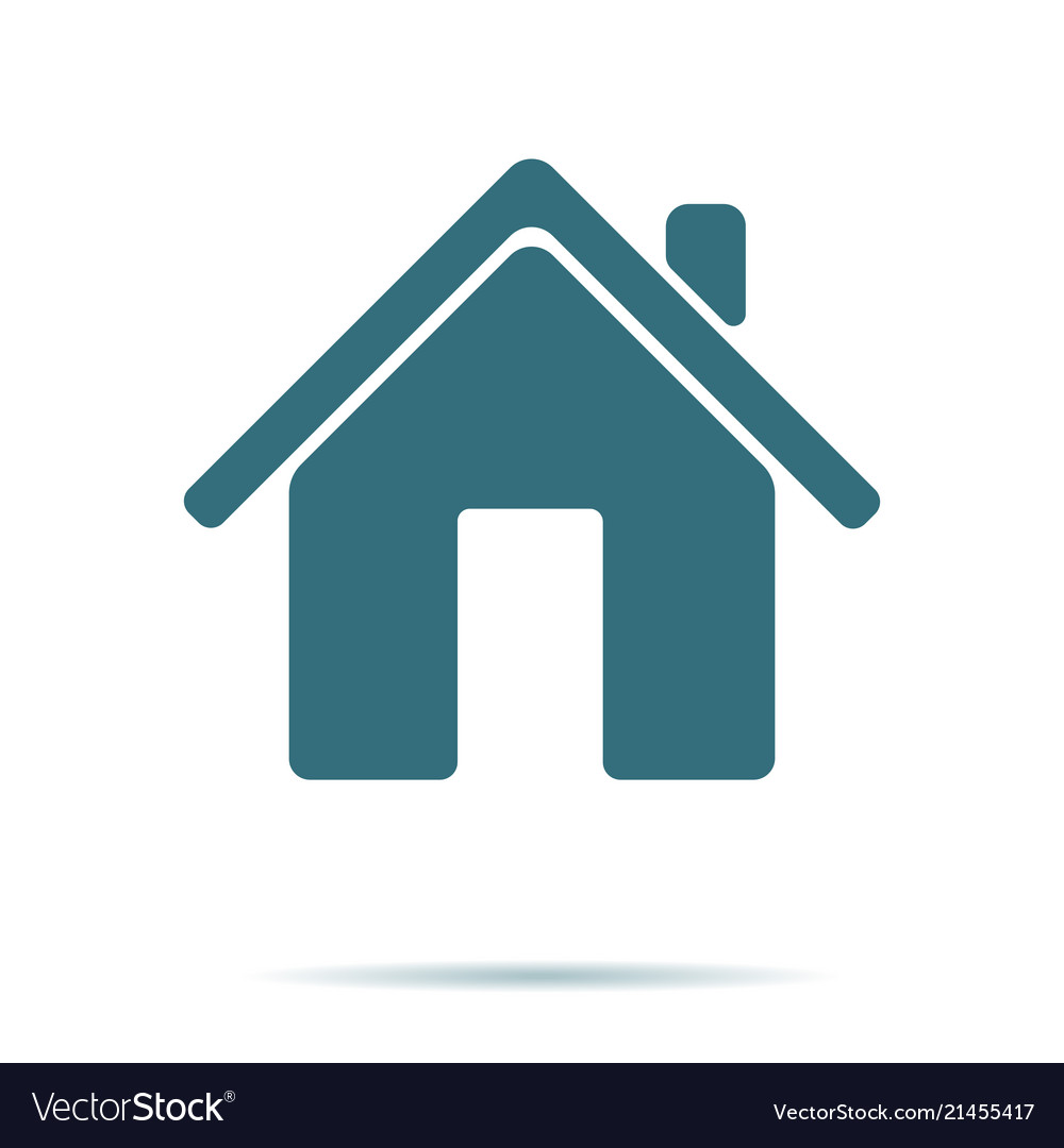 Blue home icon isolated on background modern flat