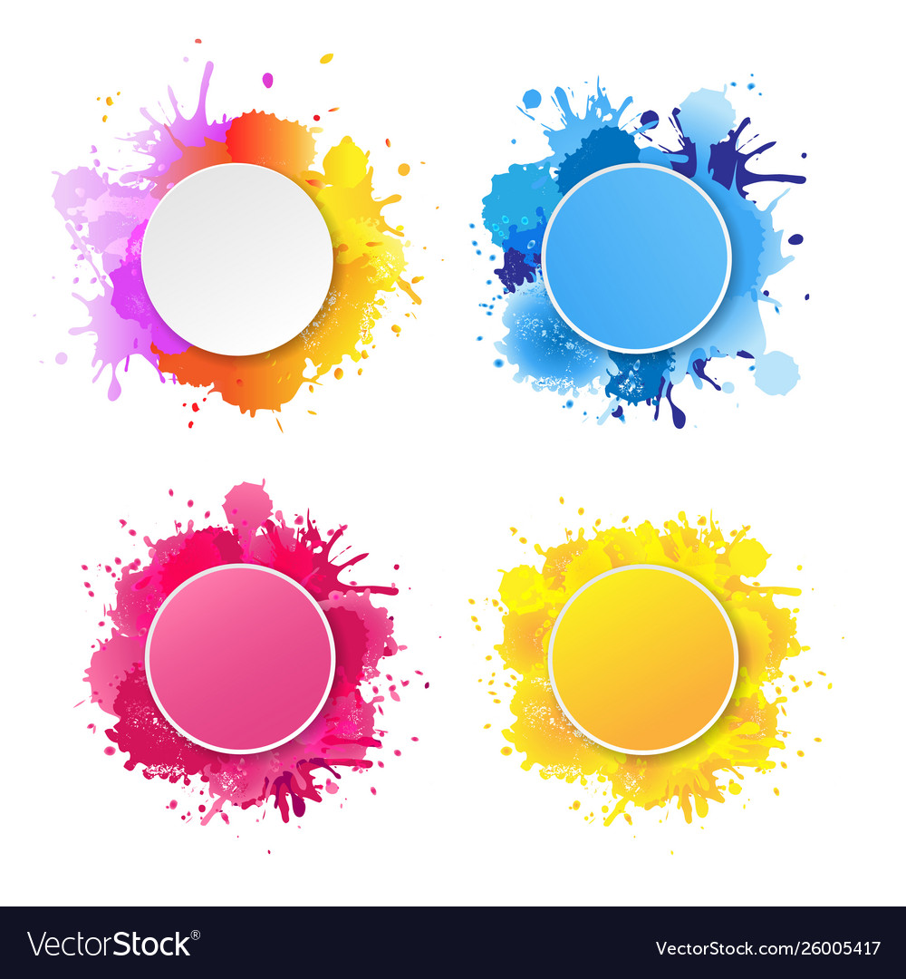 Bright banner with colorful blobs vector