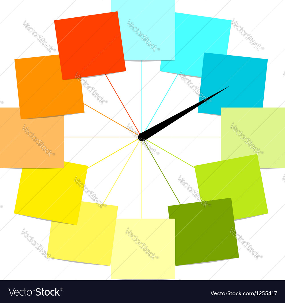 Creative clock design with stickers for your text
