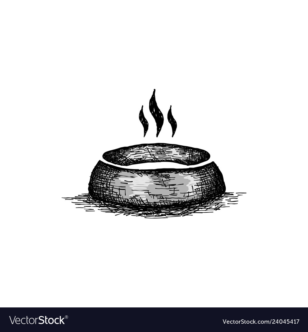 Dog bowl logo design