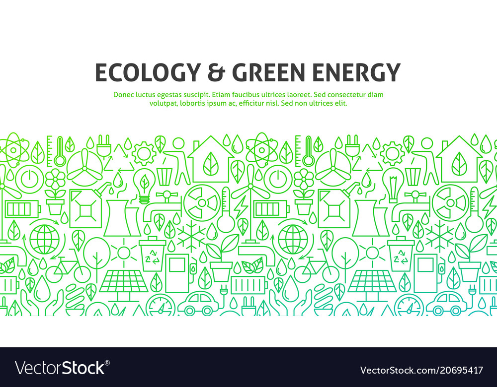 Ecology green energy concept vector image