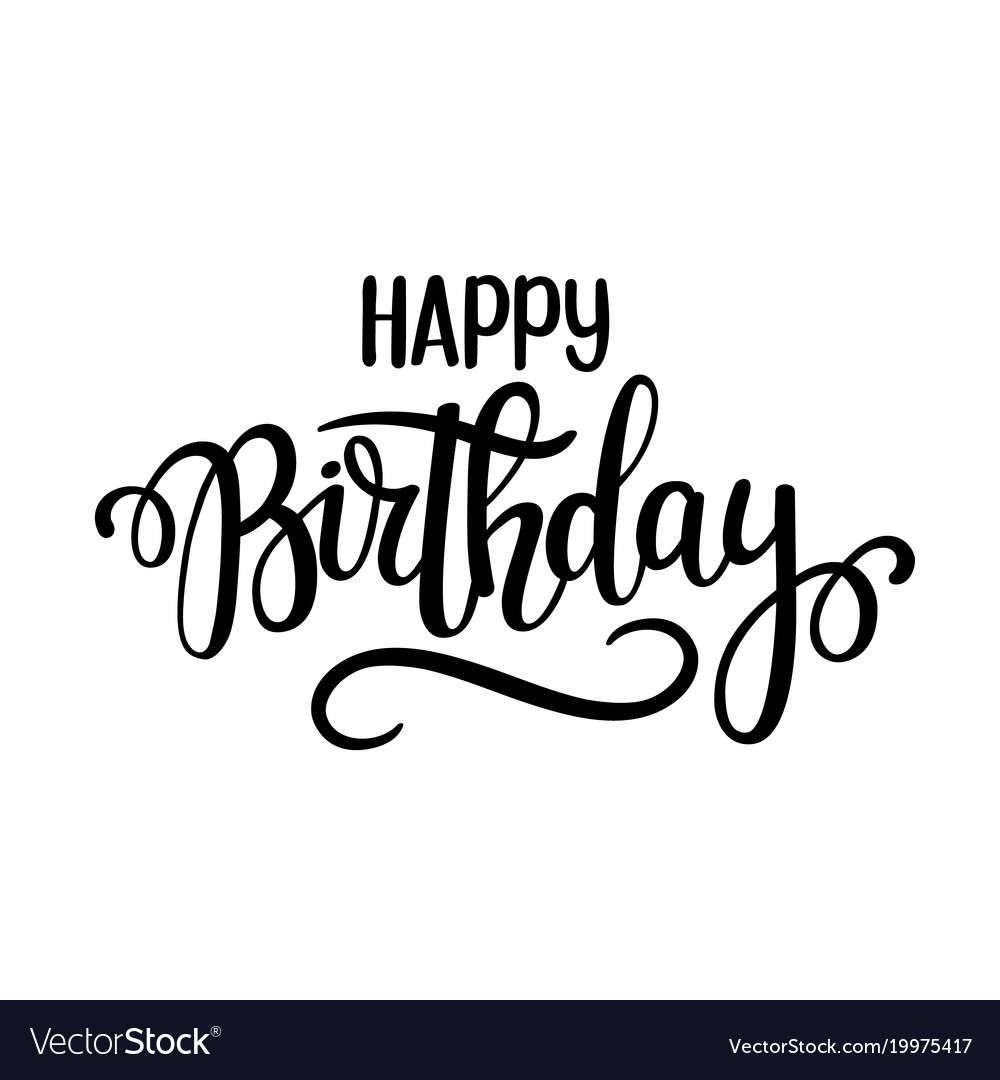 Happy birthday lettering design posters Royalty Free Vector