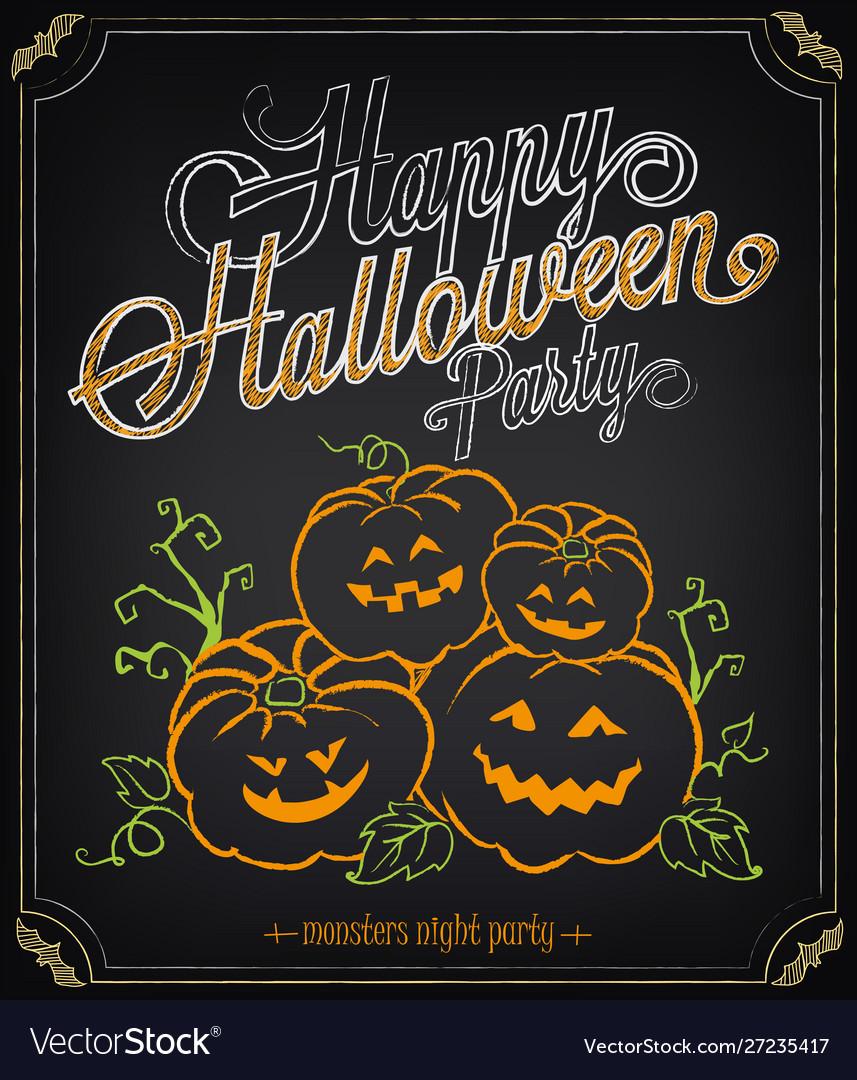 Happy halloween party invitation background